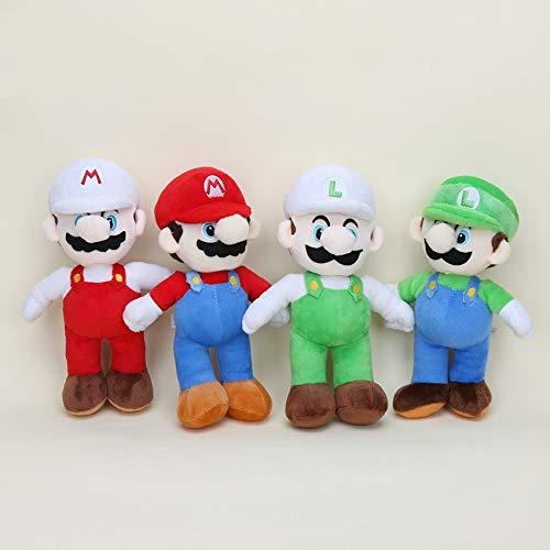 FENGHUA Super Mario Bros Figura 4pcs / Set 10'' 25cm Super Mario Bros Muñecas De Felpa Super Mario Soft Plush Stand Mario Luigi Stuffed Plush Toys