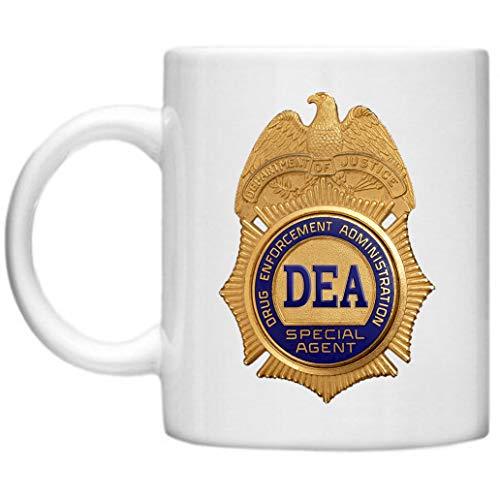 DEA, d.e.a Tasse, FBI, Special Agent, GPO Group Exclsuive Design, DEA Tasse, lustige Geschenke, Mikrowelle Spülmaschinenfest 313ml Tasse