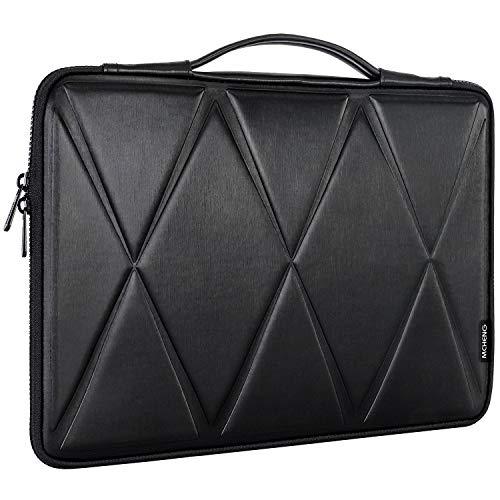 MCHENG Maletín de 15,6 Pulgadas Ordenadores Bolso de Hombro Bolsa de Mensajero y maletín con manillas para Bolsos de Mano para Ordenadores 15-15,6 Pulgadas, Negro