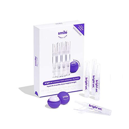 SmileDirectClub Teeth Whitening Gel Kit with Lip Balm - 4 Pack Pens - Whiten Teeth with Professional Strength