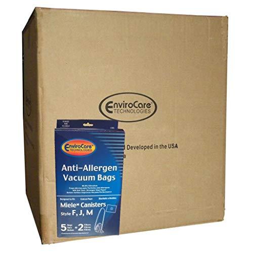 EnviroCare Miele F J M HEPA Allergen Canister Azul Cuello Bolsas y filtros