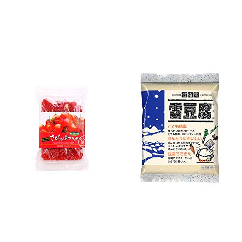 [2点セット] 収穫の朝 さくらんぼグラッセ ラム酒風味(180g)・信濃雪 雪豆腐(粉豆腐)(100g)