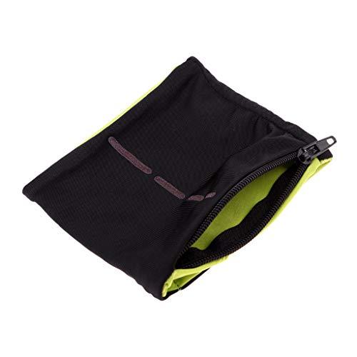 AMAZING1 Mini tamaño de la pulsera de la cremallera de la correa del sudor de la muñeca de la cartera de la tarjeta de dinero para correr, ciclismo, baloncesto, gimnasio, tenis y entrenamiento