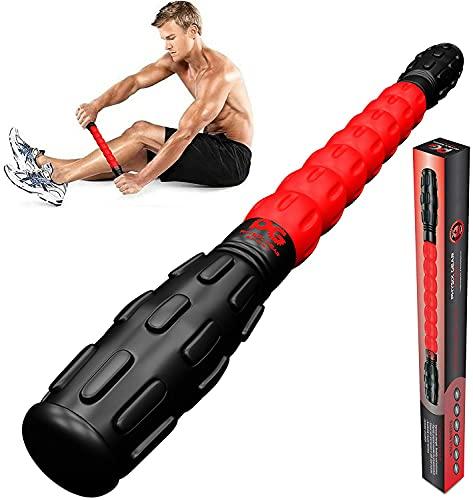 Physix Gear Sport Herramienta de Masajes para Músculos Adoloridos, Calambres, Puntos de Gatillo y Nudos. Ideal para Pantorrillas, Piernas, y Espalda - Rehabilitación, Recuperación de Ácido Láctico.
