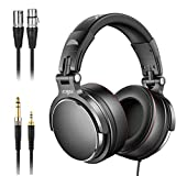 Studio Headphones with 6.6ft XLR Cable, Vogek Prefessional DJ Headphones Mixing DJ Headset Protein...