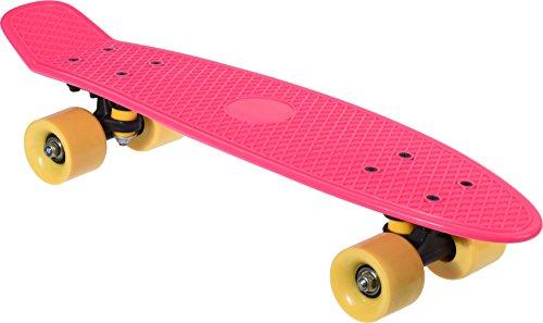 Crouch Retro Vintage Kinderskateboard Pink Skateboard für Kinder, für Jungen oder Mädchen