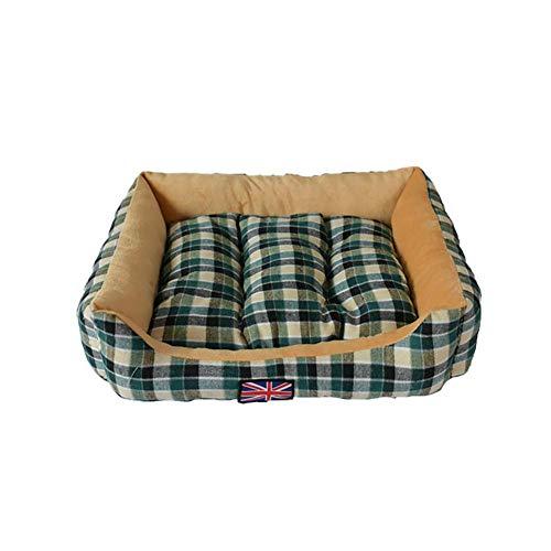 Monbedos Hundebett Hundekorb Hundesofa Platz Haustierbett für Outdoor und Zuhause - Kariertes Muster