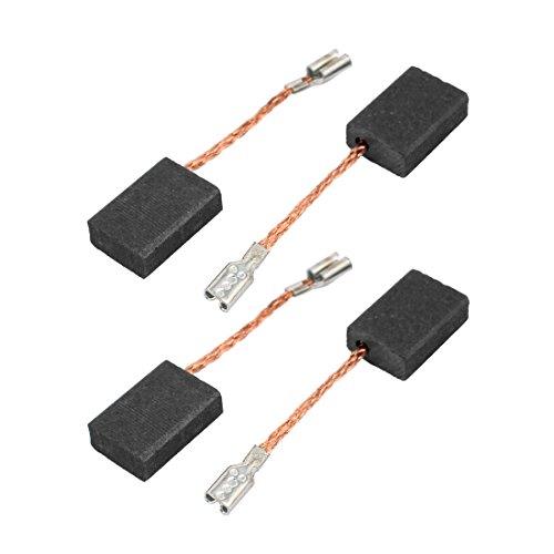 sourcingmap® 2 pares de Escobilla de carbón del motor perforación eléctrico giratorio Herramienta eléctrica 5 x 10 x 15mm negro