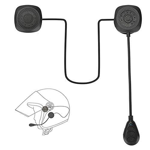 FJYDM Auriculares Bluetooth para Casco De Motocicleta, Auriculares Bluetooth 5.0 Auriculares para Casco Al Aire Libre Sistema De Audio Universal para Casco para Viajes
