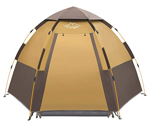 Toogh 3-4 Person Camping Tent Backpacking Tents Hexagon Waterproof...