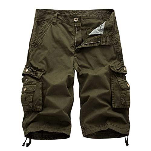 Shorts Hommes Cargo D' été Armée Militaire Tactique Homme Shorts Casual Solide Multi-Poche Homme Cargo Shorts Plus La Taille
