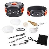 Iycorish - Juego de 12 utensilios de cocina portátil para camping, senderismo, viajes, picnic, accesorios