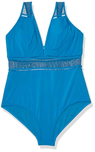 Jets by Jessika Allen Women's Aspire D-DD Underwire One Piece Swimsuit, deep Aqua, US 4 / AUS 8