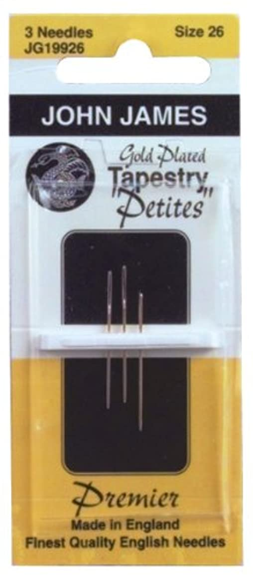 Colonial Needle Gold Tapestry Petites Hand Needles, Size 26, 3-Pack