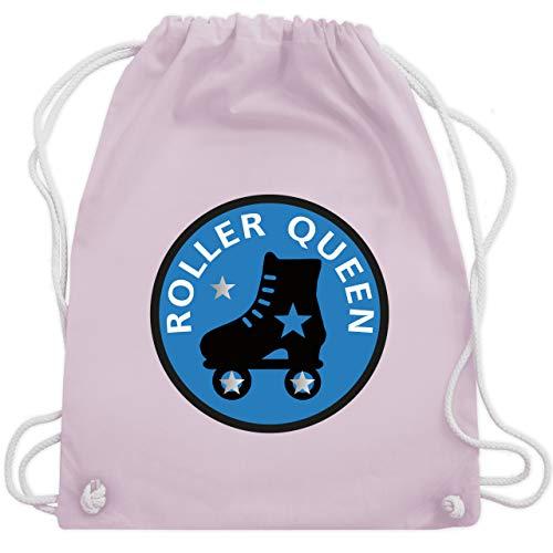 Shirtracer Vintage - Roller Queen Rollschuh - Unisize - Pastell Rosa - rollschuh rucksack - WM110 - Turnbeutel und Stoffbeutel aus Baumwolle