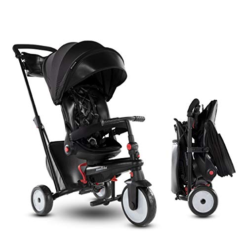 smarTrike 7 Urban Folding Baby Tricycle, Black