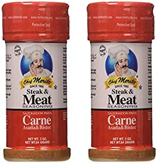 Chef Merito Carne Asada Meat Seasoning, 3 Ounce (  Pack   of 2)