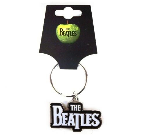 The Beatles Logotipo oficial Drop T Logo Llavero de metal - Llavero