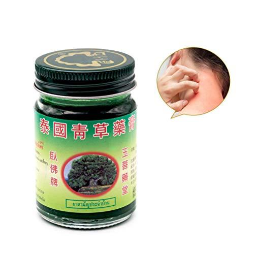 BSTCAR 50g Thai Massage Balsam, Grüne Kräutersalbe Massage Muskelgelenke Verstauchungsschmerzen Balsam Anti-Moskito Antipruritische Creme