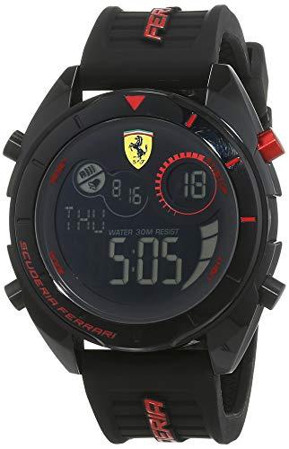 Scuderia Ferrari Reloj Analógico-Digital para Hombre Correa en Silicona 830548