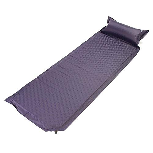 HOUMEL Outdoor Automatic Inflatable Cushion With Pollow Ultralight Portable Inflating Navy Camping Mat Support Sleep Mat Travel Pad For Outdoor Tent, Backpacking, Hiking, Hammock & Sleeping Bag