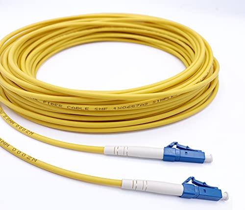 Elfcam Glasfaserkabel LC/UPC auf LC/UPC Simplex Singlemode 9/125 µm, LWL Kabel LSZH (10M)