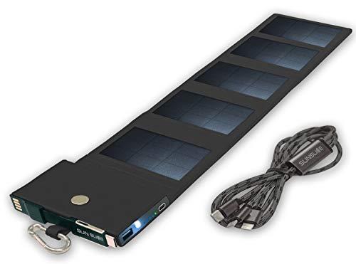 Sunslice Photon - Chargeur solaire noir, 4W/4000mAh