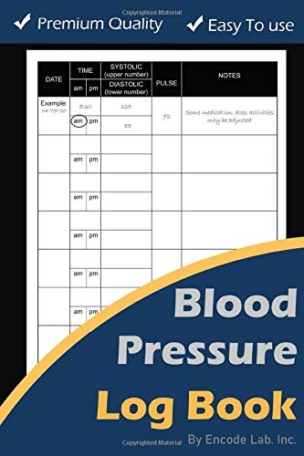 Blood Pressure Log Book: Record & Monitor Blood Pressure and Pulse at Home