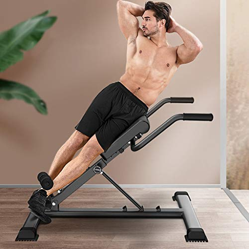Bench Roman Chair Back Hyperextension, Utility Adjustable Roman Bench for Full Body Workout Hyper Back Extension Ab Sit up Decline Flat Abdominal Muscles Fitness Equipment (Multicolor, US Direct)
