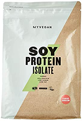 MY PROTEIN Soy Isolate Proteins Supplement, 1 kg, Strawberry Cream from MY PROTEIN