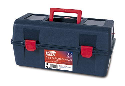 Tayg Caja herramientas plástico n. 23, negro, 356 x 184 x 163 mm