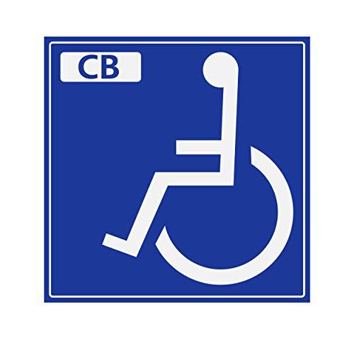 Supstick zelfklevende sticker Handicapé – persoon met verminderde mobiliteit – automatische dispenser, 15 x 15 cm