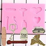 CSCZL 3D Sombrero Botella Medicina moldes de Silicona Herramientas de decoración de Pasteles de Fiesta de Bricolaje Molde de Pasta de Goma de Chocolate y Caramelo