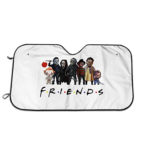 TRYOMWO Friends Horror Halloween Magic Car Windshield Sunshade Car Windshield Sun Shade Universal Fit Car Sunshade-Keep Your Vehicle Cool 27.5 X 51 in
