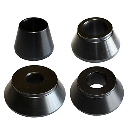 NICCOO 1# 2# 3# 4# Wheel Balancer Cone Kit, 62-137mm Wuchtkonus, 45 Kohlenstoffstahl Zentrierkonus Konus für 40mm Welle Auswuchtmaschine Reifenausgleicher Reifenwuchtmaschine (Schwarz)