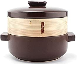 Praktisch Casserole gerechten keramische braadpan met ronde deksel hittebestendig gestoomd en gekookt voor één pot voor ve...