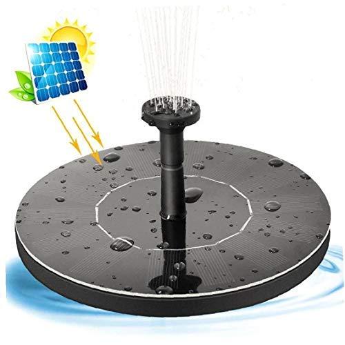 Pomp op zonne-energie, 1 W cirkel, tuinwaterpomp op zonne-energie met 5 sproeiers en 4 zwembaddokken, lotus voor de tuinvijver, drijvende bloemen, aquariumlandschap