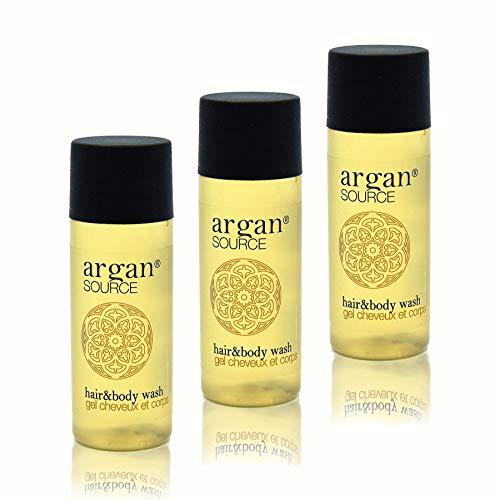 Awek.eu 100 Stück Hotel Shampoo & Duschgel (2in1) Flasche 30ml Argan Serie