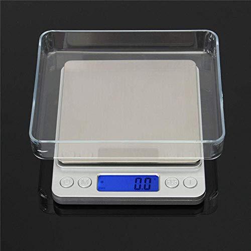 GONGFF Mini báscula de joyería 3000G X 0 1G Báscula Digital de Bolsillo Digital Báscula electrónica de Peso de joyería Mini Funda de Bolsillo Báscula Digital electrónica