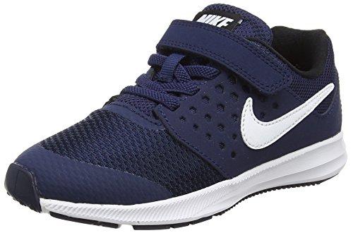 Nike Downshifter 7 (PSV) Laufschuhe, Blau (Midnight Navy/White/Dark Obsidian/Black 400), 29.5 EU