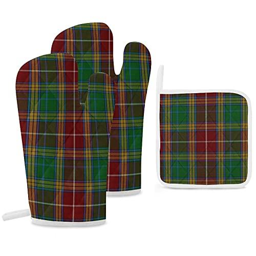 Clan Baxter Lot de 3 maniques de cuisine antidérapantes réutilisables pour la cuisine, le barbecue, la cuisson