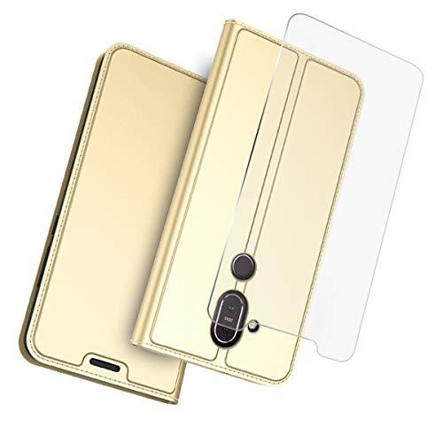 Scheam Cover Nokia 8.1 Nokia 7.1 Plus (Nokia X7) Custodia Slim Libro Design Wallet Caso Luxury Pelle Leather Magnetic Flip Stand Protective Cover with Portafoglio Card Slot for Nokia 8.1
