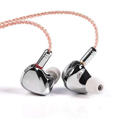 KINBOOFI TRI I3 HiFi in Ear Monitor, Músico 3 Drivers in Ear Auriculares con Planar Magnético 1DD 1BA, Sintonización Natural Auriculares Auriculares con Cable MMCX