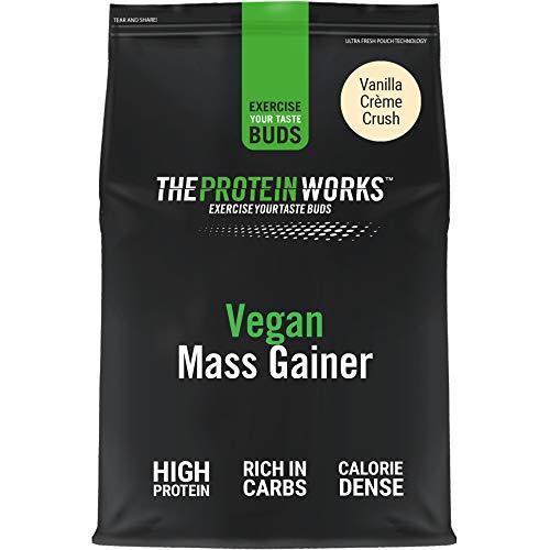 Vegan Mass Gainer 100 Plant Based High Calorie Protein Powder Weight Gainer THE PROTEIN WORKS Vanilla Creme 2 Kg