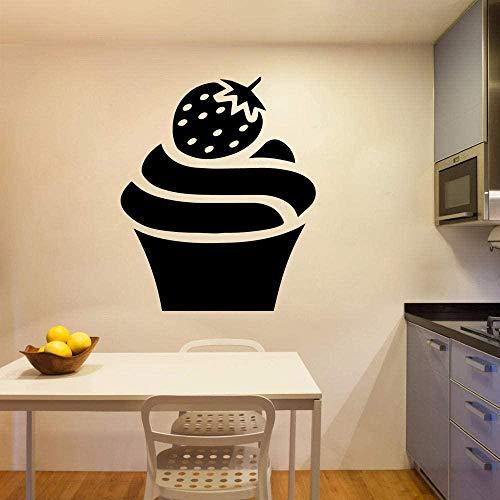 Etiqueta engomada del arte de la pared del helado moderno etiqueta de la pared etiqueta engomada del vinilo de la etiqueta engomada del arte 57x68cm