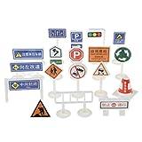 yotijar Juego de señales de tráfico de juguete cogitivo Pretend Play Traffic Vehicles Car Playset – # B