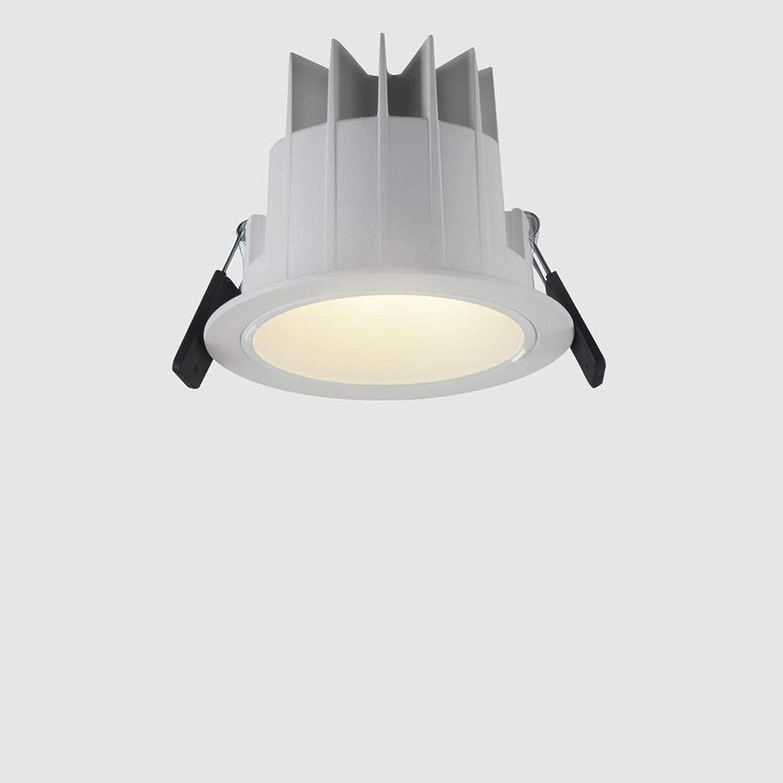 Modenny 6W10W20W30W LED Wasserdichtes Anti-Fog-Badezimmer Downlight Aluminium Runde Eingebettete Wohnzimmer Küche Deckenleuchten Scheinwerfer Ultra Bright Blendschutz Panel Einbauleuchten