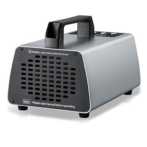 ZJHTGenerador de ozono generador de ozono comercial máquina de ozono de fuerza industrial purificador de aire O3 generador de iones de aire para el hogar desodorante desodorante (gris oscuro, 10000mg)