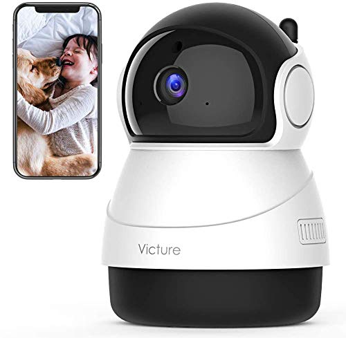 Victure 2020 Upgraded 1080P Pet Camera, 2.4G WiFi Camera with Smart Motion Detection/Tracking, Sound Detection, Two-Way Audio, Night Vision, Cloud Service, iOS/Android, APP -- Victure Home