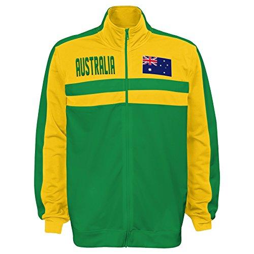 International Soccer Australia Men's Outerstuff Track Jacket, Team color , Large